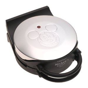 Using Mickey Mouse waffle makers
