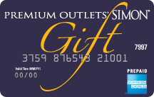 Simon Malls gift card - deluxe design